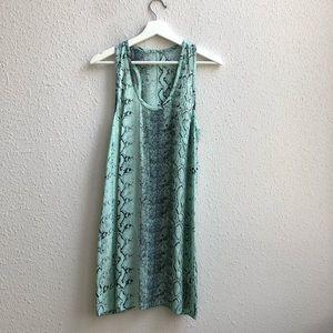JOIE Peri B Snake Printed Silk Dress